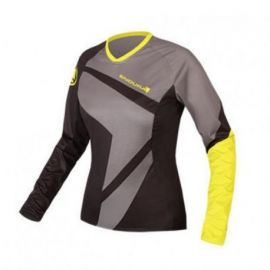 Jersey Endura Girl Wms SingleTrack II T Black