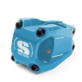 Attacco Manubrio SixPack Menace OS 40mm Azzurro