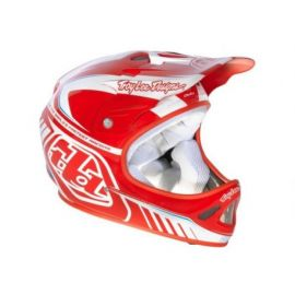 Casco Troy Lee Designs D2 Delta Red/White