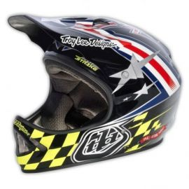 Casco Troy Lee Designs D2 Helmet Airstrike Black/Silver