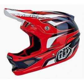 Casco Troy Lee Designs D3 Helmet EVO Composite Red