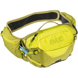 Marsupio EVOC Hip Pack Pro 3L + Sacca Idrica da 1.5L Sulphur/Moss Green