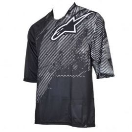 Jersey Alpinestars 3/4 Manual Black/White