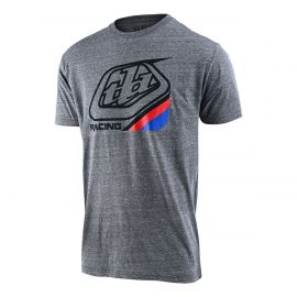 Jersey Troy Lee Designs M/C Precision 2.0 Tee Vintage Youth Gray Snow