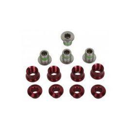 Set Bulloni Truvativ Corone M8.5 Alluminio 4x3 Red