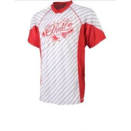 T-Shirt ONeal Thrasher Bianco/Rosso