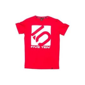 T-Shirt 5.10 Five Ten Logo Tee Toro Red/White
