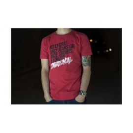 T-Shirt Commencal 100% Cotton No Lycra Burgundy