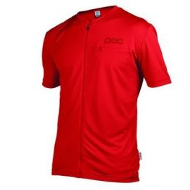 T-Shirt POC Jersey Trail Light Tee Zip Red