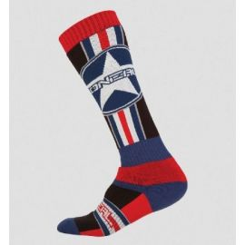Calze ONeal Pro MX Sock Afterburner Black/Blue/Red (One Size)