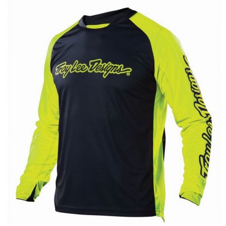 Jersey Troy Lee Design Sprint Jersey Solid Gray/Yellow