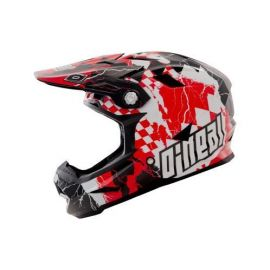 Casco ONeal Airtech AT-1 Fidlock Checkered Red