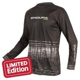 Jersey Endura MT500 L/S Print T II Black 2018