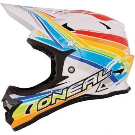 Casco ONeal Backflip Fidlock DH Helmet Rainbow White/Red/Yellow