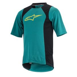 Jersey Alpinestars Drop 2 SS Teal Green Yellow