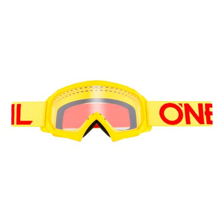 Mascherina O'Neal B-10 Youth Goggle SOLID hi-viz/red