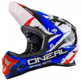 Casco Integrale O`Neal Backflip Fidlock DH Helmet RL2 Shocker Black/Red/Blue