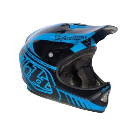 Casco Troy Lee Designs D2 Delta Blue/Black