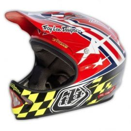 Casco Troy Lee Designs D2 Helmet Airstrike Red/Silver