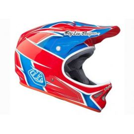 Casco Troy Lee Designs D2 R/W/B
