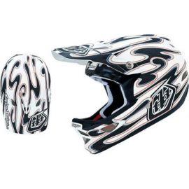 Casco Troy Lee Designs D3 Helmet Squirt Composite White