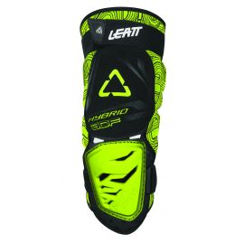 Ginocchiere Leatt 3DF HYBRID Black/Lime