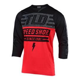 Jersey Maniche 3/4 Troy Lee Designs Ruckus Bolt Red/Black