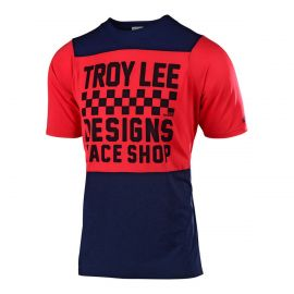 Jersey S/S Troy Lee Designs Skyline Chechers Navy/Red