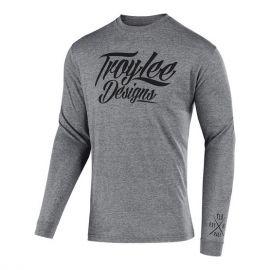 T-Shirt M/L TROY LEE DESIGNS FLOWLINE Tattoo Racer Colore Graphite Heather/Heather