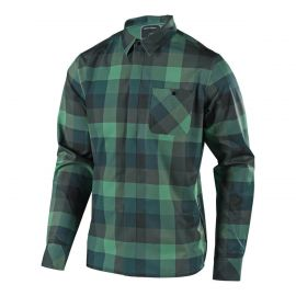 Camicia TROY LEE DESIGNS Grind Flannel Plaid Colore Green