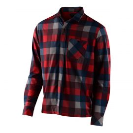 Camicia Troy Lee Designs Grind Flannel Plaid Red