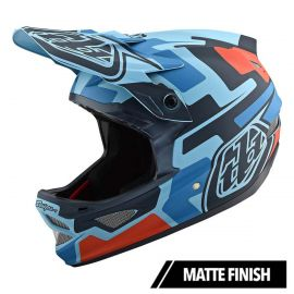 Casco Troy Lee Designs D3 Fiberlite Speedcode Blue/Black 2019