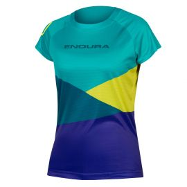 Jersey Endura Single Track Women Core Print T Kingfisher 2019