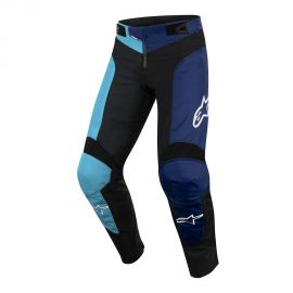 Pantaloni Lunghi Alpinestars Youth Vector Pants Black/Atoll Blue 2019