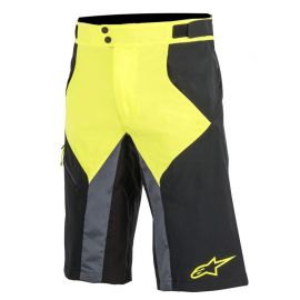 Pantaloni Alpinestars Shorts Outrider Black/Acid Yellow