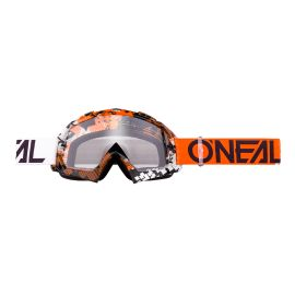 Maschera ONeal B-10 PIXEL Orange/White - clear