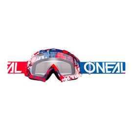 Maschera ONeal B-10 PIXEL Red/Blue - clear