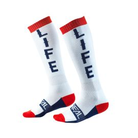 Calze ONeal Pro MX MOTO LIFE White/Red/Blue