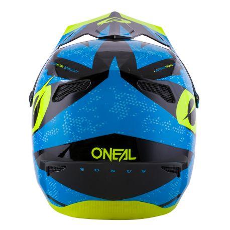 Casco ONeal Sonus Helmet DEFT Blue/Neon Yellow