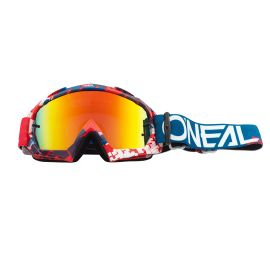 Maschera ONeal B-10 PIXEL Red/Blue - Radium