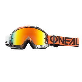 Maschera ONeal B-10 PIXEL Orange/White - Radium