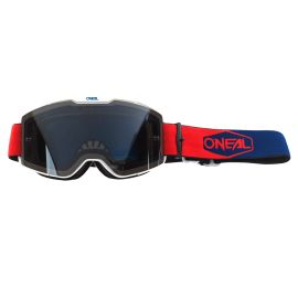 Maschera ONeal B-20 PLAIN Red/Blue - Gray
