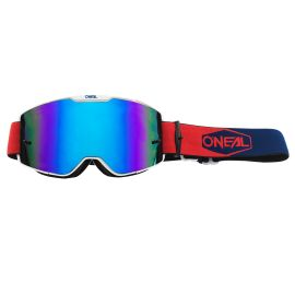 Maschera ONeal B-20 PLAIN Red/Blue - Radium Blue