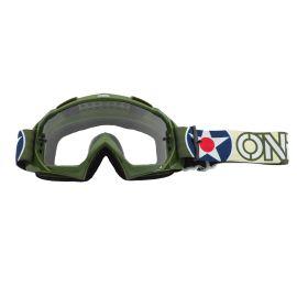 Maschera ONeal B-10 WARHAWK Green/Sand - Clear