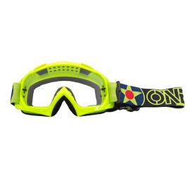 Maschera ONeal B-10 WARHAWK Neon Yellow/Black - Clear