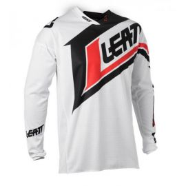 Jersey Leatt GPX 2.5 Junior White/Black