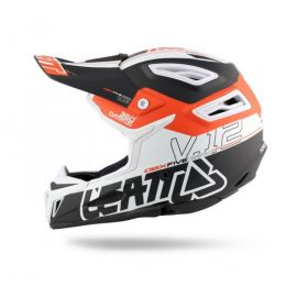 Casco Integrale Leatt DBX 5.0 V12 Black/Orange/White