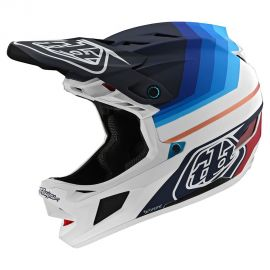 Casco Troy Lee Designs D4 Carbon MIPS Mirage Navy/White