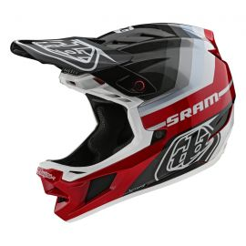 Casco Troy Lee Designs D4 Carbon MIPS Mirage SRAM Black/Red