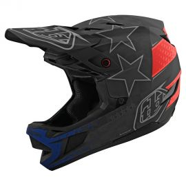 Casco Troy Lee Designs D4 Carbon MIPS Freedom 2.0 Black/Red